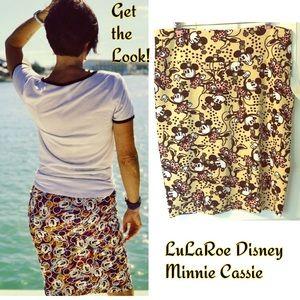 LuLaRoe Disney Cassie Skirt Minnie Mouse 3X 2X NWT